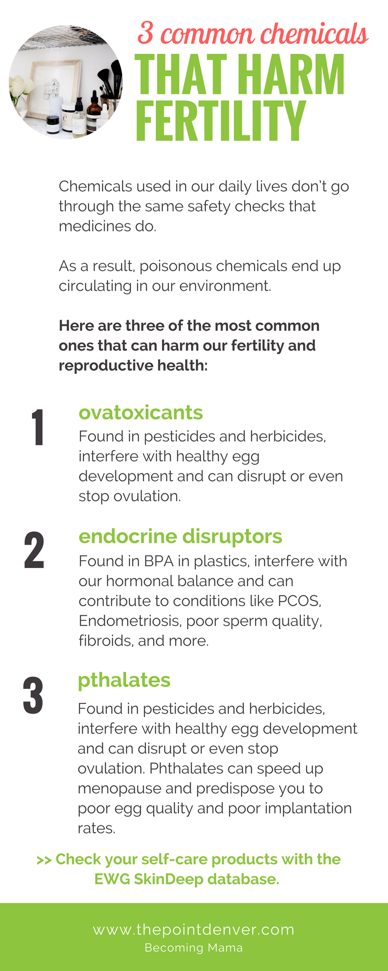 3 chemicals that harm fertility